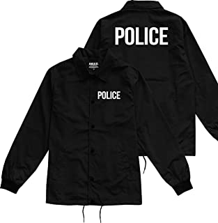 Kings Of NY Police Uniform Cop Costume Mens Windbreaker Nylon Coaches Jacket
