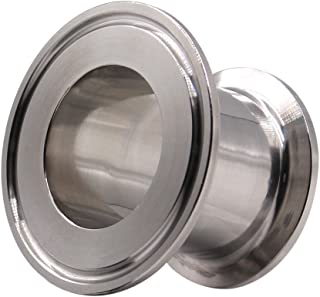 DERNORD Sanitary Concentric Reducer Tri Clamp Clover Stainless Steel 304 Sanitary Fitting End Cap Reducer (Tri Clamp Size: 2 inch x 1.5 inch)