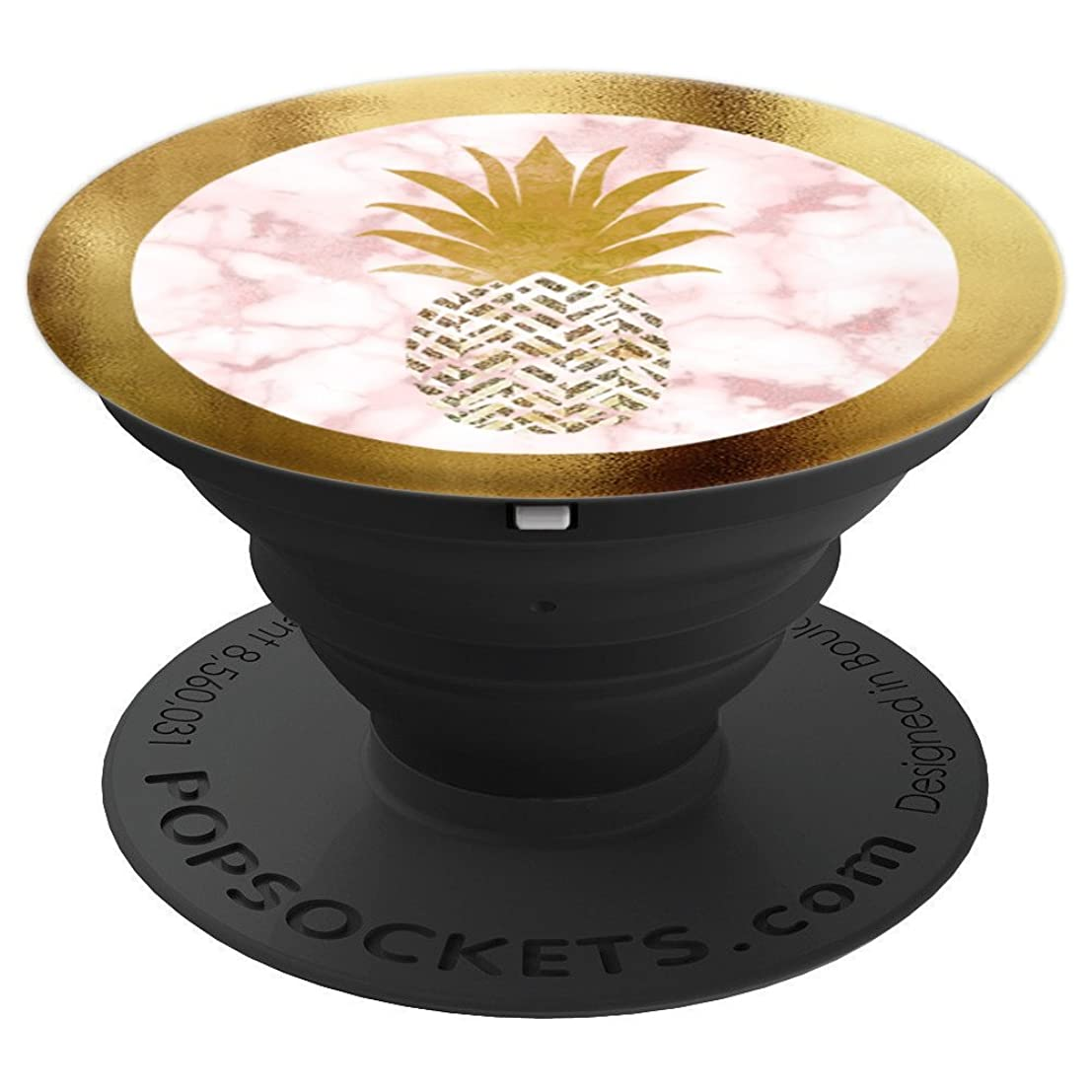 Pink & Gold Pineapple Rose Gold Marble - PopSockets Grip and Stand for Phones and Tablets