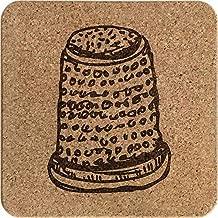 'Thimble' Square Cork Trivet / Pot Stand (TR00006694)