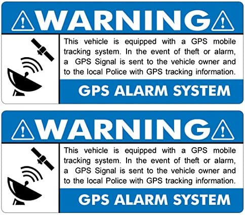 GPS 2 pack 3 5 x1 5 BLUE INSIDE WINDOW Anti Theft STICKERS FS014 Vehicle Security System Alarm product image