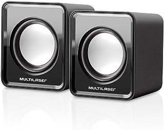Caixa De Som Multilaser 20 Mini 3W Rms Preta - SP144