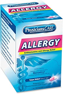 Acme United 90036 Allergy Reflief Tablet Packets 50/BX Blue