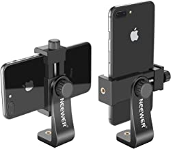 Neewer Smartphone Holder Vertical Bracket with 1/4-inch Tripod Mount - Phone Clip Tripod Adapter for iPhone11/11 Pro/11 Pro Max Samsung Galaxy S10+10 and Other Phones Within 1.9-3.9 inches Width