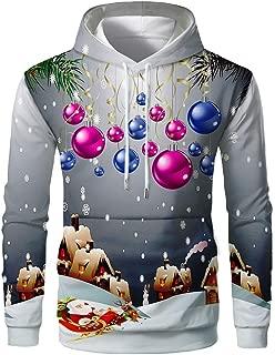 Ugly 3D Print Hoodie Mens Pullover Sweatshirt Xmas Tops Blouse Hooded Shirt