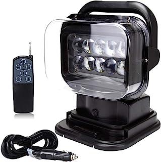 Leetop 4X 12W Phare 12V 24V Lampe LED Eclairage Auto Antibrouillard Lumi/ère Carr/ée de Travail Chantier Tracteur Camion Etanche IP67 Car Light