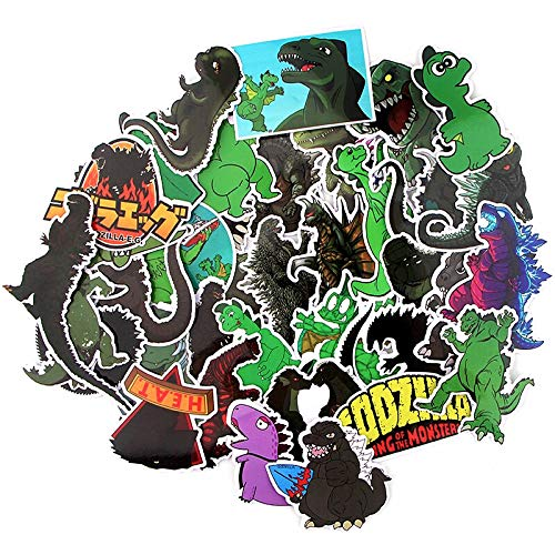 Party Hive Godzilla (37 Pieces) Assorted Decal Stickers Arts Crafts Scrapbook