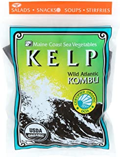 Kelp (Sugar) Whole Leaf 2 oz Bag - Wild Atlantic Kombu - Organic