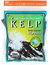 Kelp (Sugar) Whole Leaf 2 oz Bag - Wild Atlantic Kombu - Organic