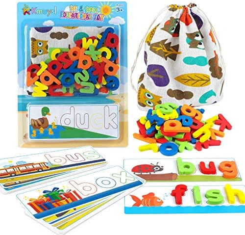 KMUYSL Matching Letter Game Spelling Letter Words for Kids See and Spell Learning Game Educational product image