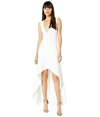 BCBGMAXAZRIA High-Low Gown (Off-White) Women