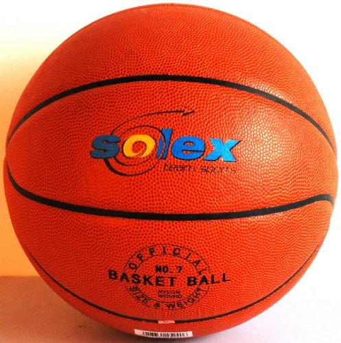 Solex Sports, Palla da Basket Tournament, Arancione (Orange), 22 x 22 x 22 cm
