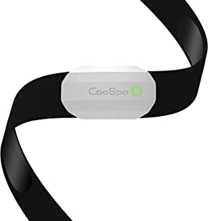 CooSpo Fitness Tracker Ant+ Heart Rate Monitor Chest Strap IP67 Waterproof with Bluetooth for Wahoo Zwift DDP Yoga Map My Ride Peloton Bike