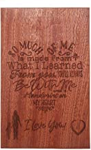 Mothers Gift – Special Love Heart Poem Sapele Cutting Board Design Mom Gift Mothers Day Gift Mom Birthday Christmas Gift Engraved Side (11.58.7)