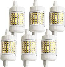 6x 12W R7S 78mm LED Gloeilamp Dimbaar 2835 3000 K 150 W Wolfraam Halogeenlamp Vervanging Licht Double Ended J Type J78 Sch...
