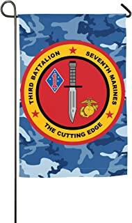 3rd Battalion, 7th Marines Yard Flag Patio Garden Flags Outdoor Banner 12x18 Inches