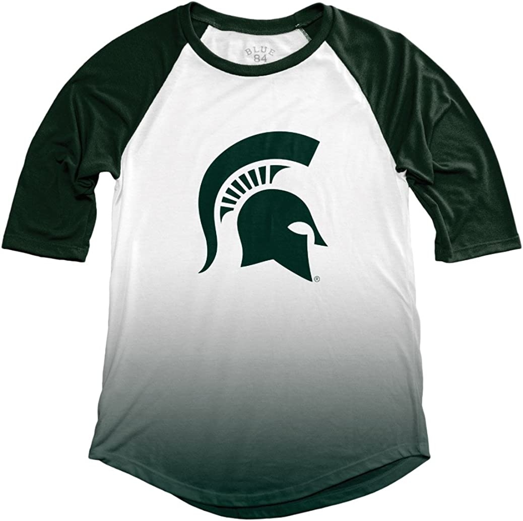 NCAA Michigan State Spartans Adult Women NCAA Womens Sublimated Baseball Tee,Small,Forest