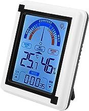 Pantalla táctil LCD Reloj meteorológico Temperatura Digital Medidor de Humedad Termómetro Higrómetro Oficina en casa Invernadero