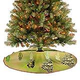 Homesonne Faldón de árbol de Navidad con diseño de mariposa de lima, diseño de ciclo de vida natural...