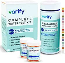 17 in 1 Premium Drinking Water Test Kit - 100 Strips + 2 Bacteria Tests - Home Water Quality Tester for Well and Tap - Easy Testing for Lead, Bacteria, Hardness, Fluoride, pH, Iron, Copper and More!