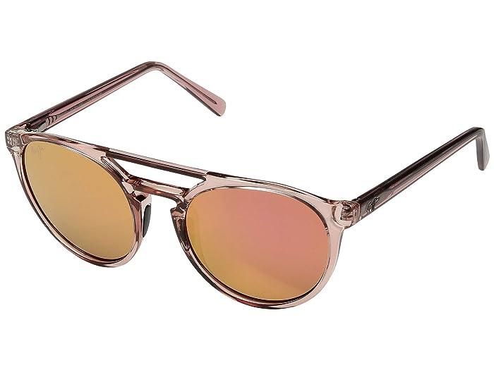 Ah Dang! (Transparent Pink/Maui Sunrise) Athletic Performance Sport Sunglasses