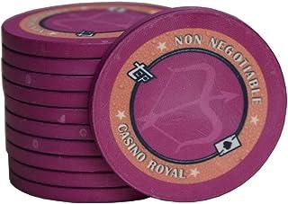 TX GIRL 10pcs / Juego De Póker De Cerámica Chips 12 Constelaciones Casino Royal Impuestos Hold'em Negro Jack Virutas De Póker Más Ligeros Monedas Bingo Poker (Color : Sagittarius)