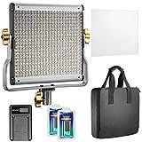 Neewer Regulable Bi-color 480 LED Video Luz CRI 96 + 3200-5600K con Soporte en U...