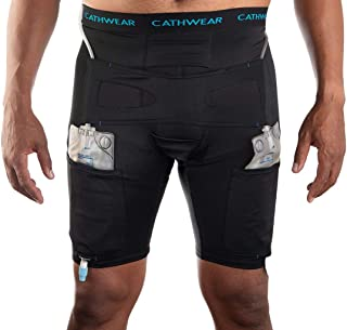 CathWear Catheter/Leg Bag Underwear (Black, Large)