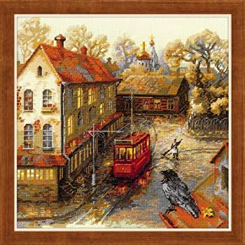 RIOLIS 1079 Autumn View Counted Cross Stitch Kit 15 x 10/¼ Zweigart 14 ct White AIDA 20 Colors