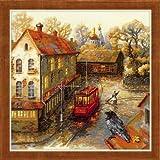 Riolis Kreuzstich-Set Warmer Herbst, Zählmuster Kit de punto de cruz, diseño de otoño, algodón, multicolor, 30.0 x 30.0 x 0.1 cm