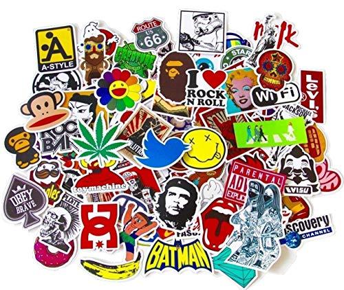 FILWO 100 Stück Aufkleber Wasserdicht Vinyl Stickers für Auto Motorräder Fahrrad Skateboard Snowboard Gepäck Laptop