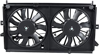 ECCPP AC A/C Condenser Radiator Dual Cooling Fan Replacement fit for 1999-2003 Chevrolet Monte Carlo Impala 3.4L 3.8L
