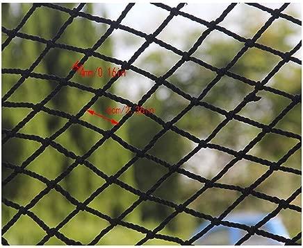 HWJ Black Protective Net Children s Stair Safety Net Anti-fall Net Fence Net Football Net Decoration Net Hanging Clothes Net Restaurant Bar  Size 2x1m