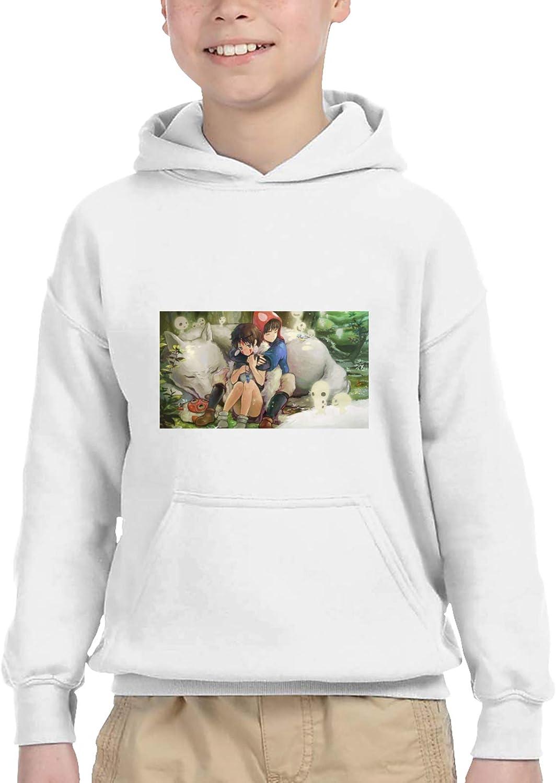 Boys Pullover Hoodie Princess Mononoke Design Casual Hoodie
