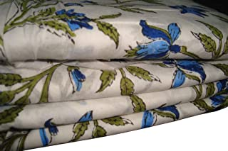 Indian Handmade by Yard Block Print Cotton Dressmaking Handmade Fabric Garment Craft Sewing Fabric