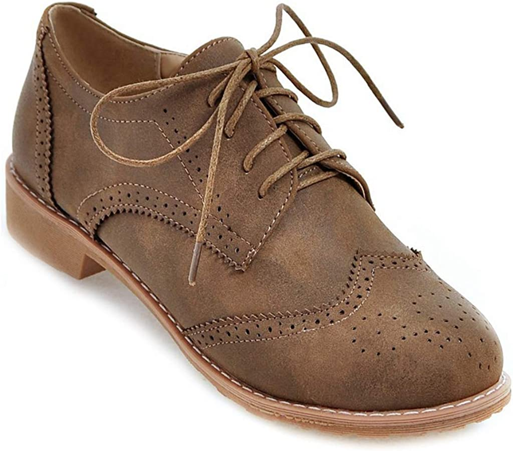 MIOKE Women's Classic Flat Saddle Oxford Up Shoes Same Ranking TOP11 day shipping Lace P Wingtip