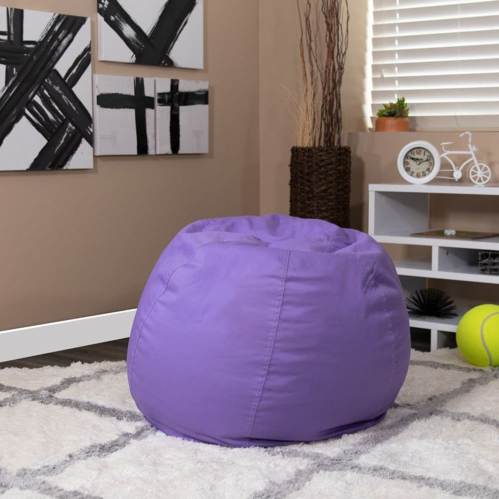 Flash Furniture Sale Small Solid Purple Bean and Chair Phoenix Mall for T Bag Kids