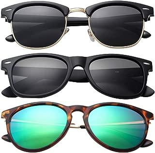 Polarized Sunglasses for Men or Women Classic Frame Driving Classic Retro Designer Sun glasses...