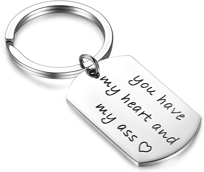 Valentines Day Keychain for Husband Boyfriend Funny Anniversary Birthday Keyring