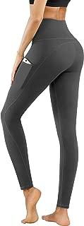 PHISOCKAT High Waist Yoga Pants with Pockets, Tummy Control Yoga Pants for Women, Workout 4 Way Stretch Yoga Leggings