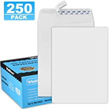 ValBox 9x12 Self Seal Catalog Envelopes 250 Packs White Envelopes with Peel and Seal Flap for Mailing, Organizing and Storage
