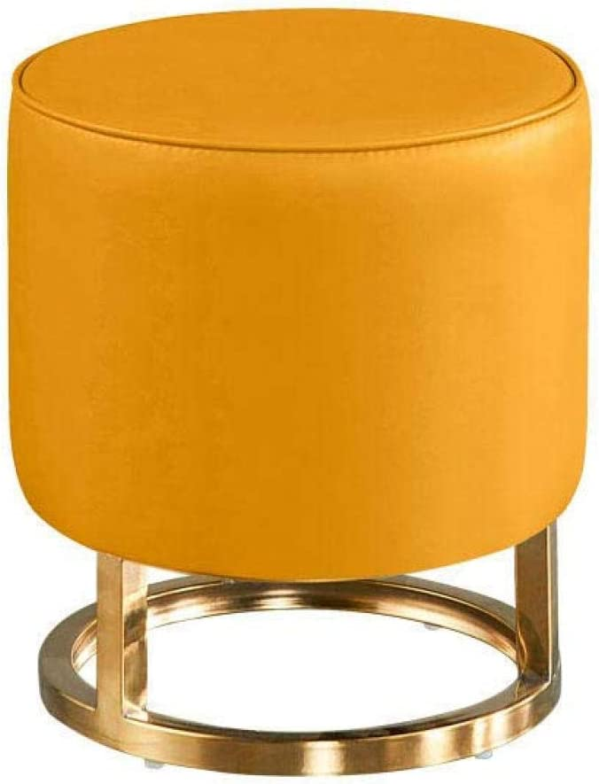 MYYINGBIN Modern Chic Round Ottoman Cheap Import mail order sales Frame Metal with Foo Pouffe