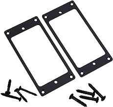 2PCS ShareGoo Metal Flat Humbucker Cover Electric Guitar Pickup Frame Mounting Ring with Screws (Black)