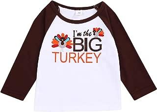 Thanksgiving Sibling Baby Shirts Romper Set Little Turkey & Big Turkey Bodysuit Matching Outfit Set