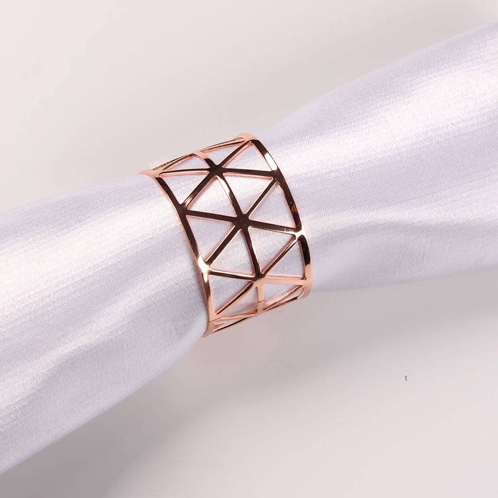 UXZDX online shopping CUJUX 12pcs Prismatic Alloy Latest item Bu Napkin Wedding Rings