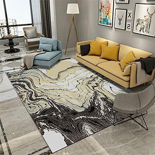 alfombras Salon Baratas Alfombra Beige, patrón Abstracto, cojín para Silla de Oficina...