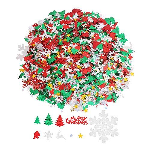 DIYASY Christmas Confetti,4800 Pcs/3.5 Oz Glitter Confetti Sprinkles Table Confetti for New Year Decoration.