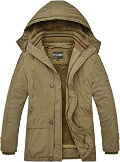 GUIFANG Men's Winter Casual Hooded Padded Jacket Large Size Tide Jacket