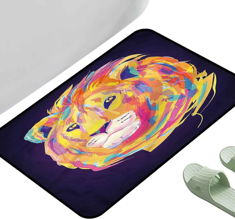 Kitchen Mat Lion Artistic Wild Animal Rectang 29