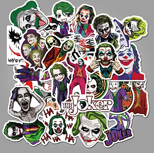 BUCUO Clown Movie Graffiti Waterproof Skateboard Travel Suitcase Mobile Phone Luggage Stickers Cute Kids Girl Toys 50Pcs